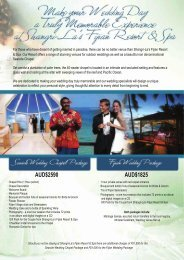 information on this special - Fiji Wedding Packages