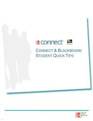 CONNECT & BLACKBOARD STUDENT QUICK TIPS