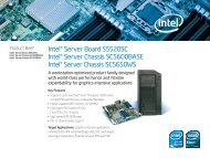 Intel® Server Board S5520SC Intel® Server Chassis SC5600BASE ...