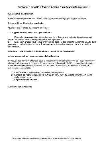 KBP protocole - Fédération Française de Pneumologie