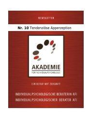 Tendenziöse Apperzeption - Akademie für Individualpsychologie