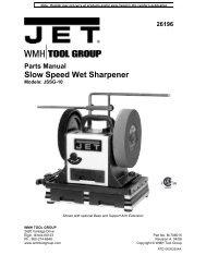 Parts Manual Slow Speed Wet Sharpener - Rockler.com