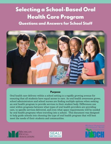 Selecting a school-based oral health care program - State of Michigan