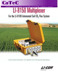 LI-8150 Multiplexer