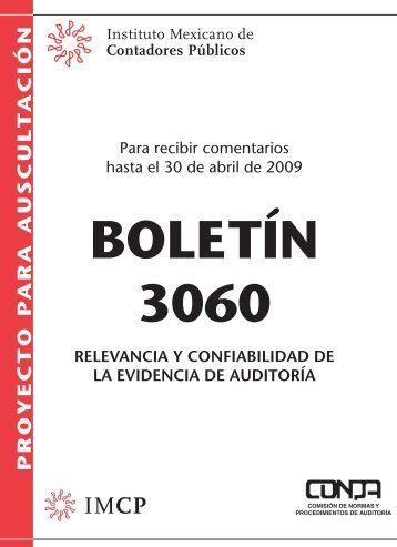 BOLETÍN 3060 - Instituto Mexicano de Contadores Públicos