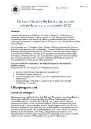 (PRL) VP 2012 - Medicinsk fakultet - Umeå universitet