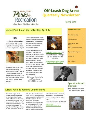 spring newsletter 2010 - Ramsey County Parks and Recreation