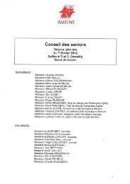 Conseil des seniors - Amiens