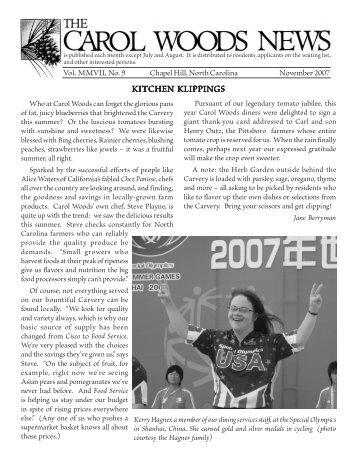 November Issue - Carol Woods Retirement Community