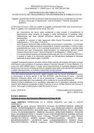 Avvio del procedimento per dichiarazione di pubblica utilità