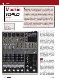 mackie 802 vlz 3 - Music Info