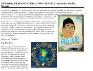 GUS DUR, PEJUANG PLURALISME SEJATI | Indonesia Media Online