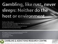 Gambling, like rust, never sleeps: Neither do the host or environment