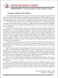 Manual do Acadêmico - unisalesiano