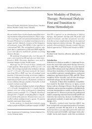 New Modality of Dialysis Therapy - Advances in Peritoneal Dialysis