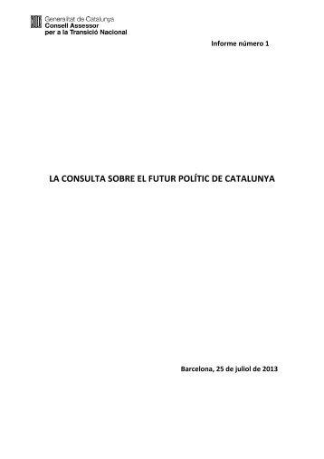 Informe del CATN en PDF - Premsa - Generalitat de Catalunya