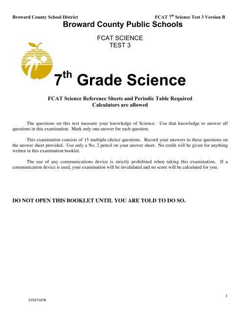 7 Grade Science