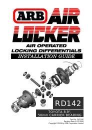Download Fitting / Installation Guide - Arlington Motorcar Service