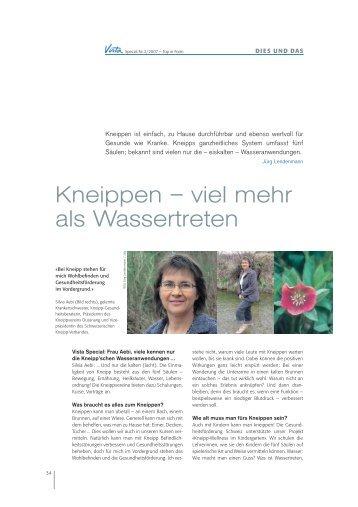 Kneippen – viel mehr als Wassertreten - lendenmann.org
