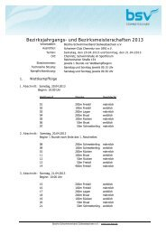 Bezirksjahrgangs- und Bezirksmeisterschaften 2013 - DSV