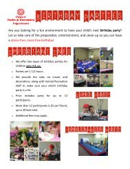Details about Parks & Recreation Birthday Parties - The City of Powell