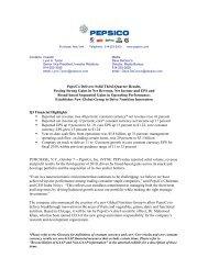 Press Release - PepsiCo