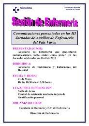 Comunicaciones presentadas en las III Jornadas de Auxiliar de ...
