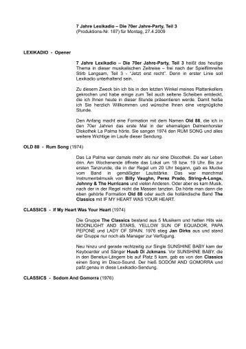 7 Jahre Lexikadio – Die 70er Jahre-Party, Teil 3 ... - fbas.tv
