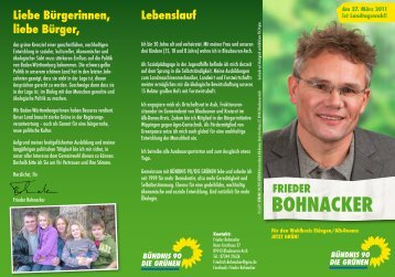 BOHNACKER - Die Grünen im Alb-Donau-Kreis