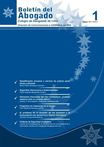 boletin del abogado 1º edicion - enero 2011 - Colegio de Abogados ...