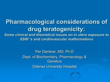 Pharmacological considerations of drug teratogenicity – why animal ...