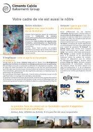 CALCIA Cgny Profile.indd - Ciments Calcia