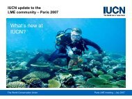 IUCN Update to the LME Community - Large Marine Ecosystems of ...