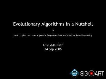 Evolutionary Algorithms in a Nutshell
