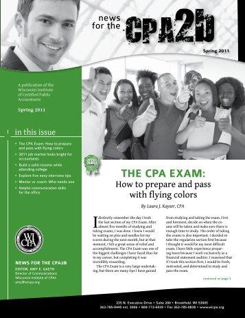 THE CPA ExAm: - WICPA