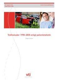 Trafikskador 1998–2005 enligt patientstatistik - VTI