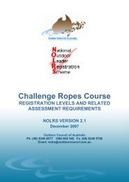 CHALLENGE ROPES COURSES - Outdoors WA