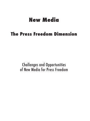 New Media: the Press Freedom Dimension. Challenges and ...