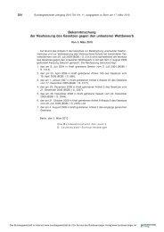 Gesetz gegen unlauteren Wettbewerb - MTD-Verlag GmbH