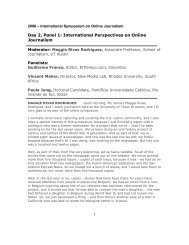 Transcript - International Symposium on Online Journalism - The ...