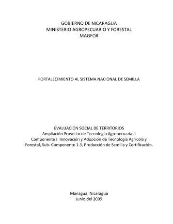 Evaluacion Social de Territorios Ampliacion PTA II - magfor