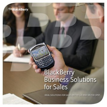 BlackBerry Business Solutions for Sales