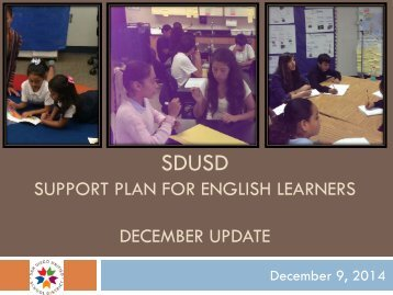Support for English Learners Presentation, 12-9-14