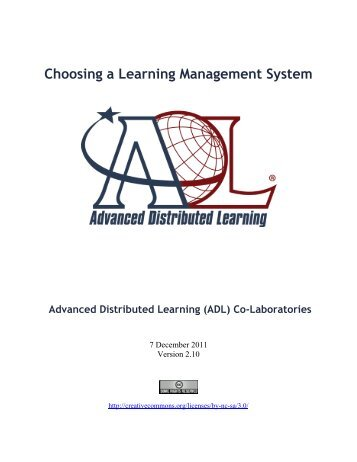 Choosing an LMS paper additions - Advanced Distributed Learning