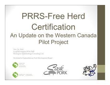 PRRS-Free Herd Certification - SaskPork