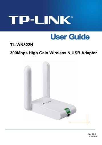 TL-WN822N 300Mbps High Gain Wireless N USB Adapter