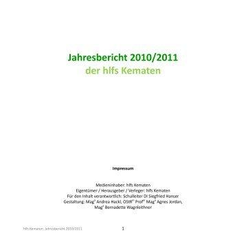 2010/2011 - Höhere Bundeslehranstalt für Land- und ...