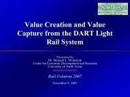 Value Creation and Value Capture from the DART ... - Rail~Volution