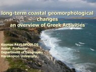 long-term coastal geomorphological changes