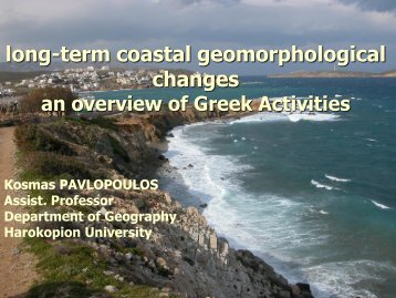 long-term coastal geomorphological changes